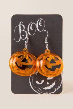Light My Pumpkin Drop Earring