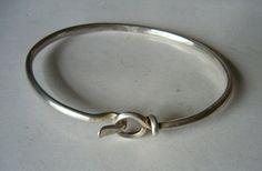 Scandinavian Silver: vintage designer silver and modernist jewelry - Torun for Georg Jensen BangleVivianna Torun Bulow-Hube,