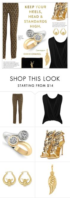 """""""Good As Gold"""" by applesofgoldjewelry ❤ liked on Polyvore featuring Balmain, Chanel, Yves Saint Laurent and Apples of Gold"""