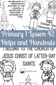 My favorite go to site for planning LDS Primary lessons. This one is for Primary 1 Lesson 42: I belong to the Church of Jesus Christ of Latter-day Saints