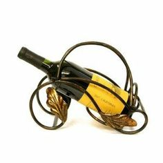 Wine holder - simple, elegant Found it at Wayfair - Fuzio 1 Bottle Wine Rack Wine Supplies, Wine Pourer, Wine Decor, Wine Refrigerator, Wine Storage, Fine Wine, Wine Drinks, Gold Leaf, Wine Rack