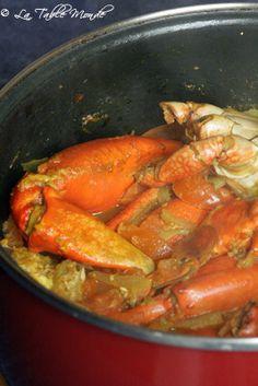 Cari de crabes Sea Food Salad Recipes, Haitian Food Recipes, Cuban Recipes, Raw Food Recipes, Seafood Recipes, Cooking Recipes, Carribean Food, Caribbean Recipes, Mauritian Food