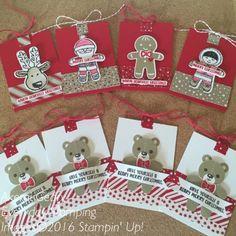 Stampin' Up! クッキーカッタークリスマス・スタンプセット&パンチで作るギフトタグ Everyday Stamping 〜スタンピン・アップ ! 癒しのペーパークラフト〜