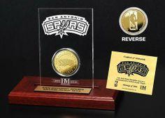 AAA Sports Memorabilia LLC - San Antonio Spurs 24KT Gold Coin Etched Acrylic, #sanantoniospurs #spurs #nba #nbacollectibles #sportsmemorabilia #sportscollectibles $39.95 (http://www.aaasportsmemorabilia.com/san-antonio-spurs-24kt-gold-coin-etched-acrylic/)