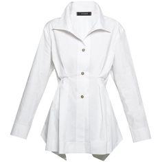 Cotton Pintucked Tunic Vitamin Shirts Halsbrook ($315) ❤ liked on Polyvore