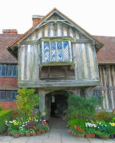 The Front Entrance of Great Dixter Manor House, East Sussex
