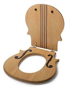 I would be the happiest person ever if I could pee in a toilet with a violin seat.