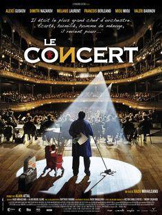 LE CONCERT : A l'époque de Brejnev, Andrei Filipov était le plus grand chef d'orchestre d'Union soviétique et dirigeait le célèbre Orchestre du Bolchoï. Mais après avoir refusé de se séparer de ses musiciens juifs, il a été licencié en pleine gloire. Trente ans plus tard, il travaille au Bolchoï... comme homme de ménage. Un soir, il tombe sur un fax adressé au directeur : il s'agit d'une invitation du Théâtre du Châtelet conviant l'orchestre du Bolchoï à venir jouer à Paris...