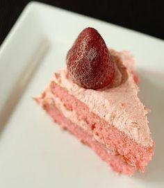 Strawberry Cake (recipe, from scratch)