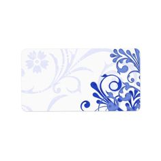 Shop Royal Blue Abstract Floral Wedding Blank Address Label created by wasootch. Personalize it with photos & text or purchase as is! Wedding Labels, Wedding Favor Tags, Wedding Invitations, Custom Address Labels, Blue Abstract, Wedding Color Schemes, How To Be Outgoing, Flyer Design, Floral Wedding
