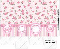 Caixa de Leite Coroa de Princesa Rosa Floral