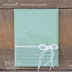 Sneak Peek Products - Mint Macaron In Color & Ribbon - Krista Frattin