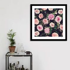 «Dark Floral Pattern», Numbered Edition Art Print by Rizki Irfansyah - From $19 - Curioos