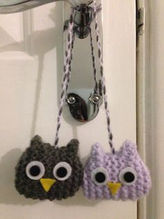 Hand knitted Owls