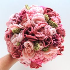 Keepsake Bouquet  Pink and Blush Crochet and by ToHaveandToHolder, $250.00