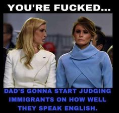 His supporters are so quick to judge people with accents yet are perfectly fine with this first lady having a fucked up accent you could barely understand what she's saying.