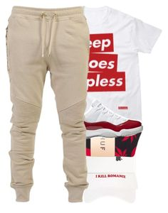 """""""Keep Hoes Topless"""" by younglolita ❤ liked on Polyvore featuring HUF and Balmain"""