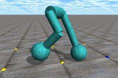 Virtual robot legs