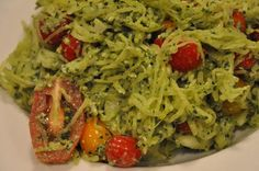 Pesto Spaghetti Squash Salad. My favorite dinner, I could eat this every day