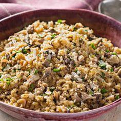 Mushroom-Quinoa Pilaf