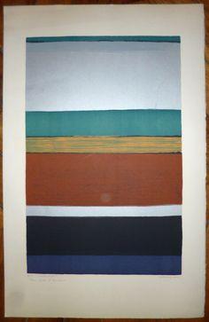 Anna-Eva Bergman, Multihorisont, litografi opplag 75 Anna, Flag, Painting, Kunst, Painting Art, Paintings, Science, Painted Canvas, Flags