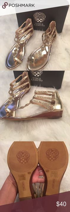 New Egyptian Gold Metallic Vince Camuto Sandals Never worn but to try on.......box included Vince Camuto Shoes Sandals