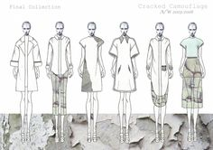 Fashion Sketchbook - fashion illustrations; line up drawings; fashion portfolio // Emma Jayne Hedgley