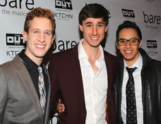 Alex Wyse, Anthony Festa, and Justin Gregory Lopez are proud to celebrate their big opening night.(© Miguel Munguia)