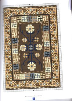 stavrovelonia-nasia: Inspirations for embroidered embroidery. Bead Loom Patterns, Cross Stitch Patterns, Latch Hook Rugs, Brown Carpet, Bead Crochet Rope, Big Rugs, Diy Embroidery, Loom Beading, Floor Rugs