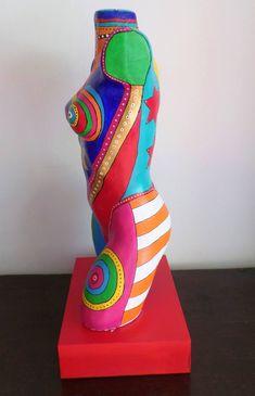 Original Body Sculpture by Allesandra Tiller Pop Art, Modern Sculpture, Body Painting, Saatchi Art, Caribbean, Sunshine, Mosaic Ideas, Statues, Abstract