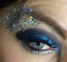 Glitter Eyes | Blue Glitter Eyes – Beauty and Make Up Pictures