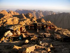 Bedouin's resting tents on the top of Mt. Where we bought mint tea and had a rest. Mount Horeb, Mount Sinai, Mint Tea, The Monks, Sea Level, Kiosk, See It, Tents, Climbing
