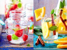 Durch raffinierte Zutatenkombinationen aus frischen Früchten, Kräutern und Gewürzen bereiten Sie ganz einfach erfrischendes Wasser mit Geschmack zu.