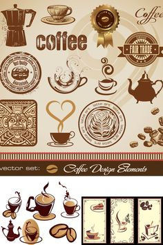 Labels with coffee cup vector contains images of coffee cups that can be used as label for coffee product or cafe. Description from allvectordesign.com. I searched for this on bing.com/images