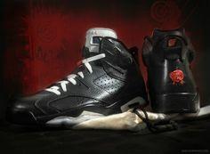 new arrival a884c 240ae Youth Big Boys Air Jordan VI Bin 65 Triple Black Air Jordan Vi, Shoe Tree