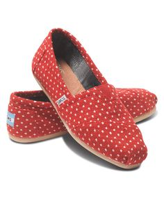 Look at this TOMS Red Dot Classics on #zulily today!