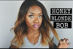 Honey Blonde ombre Bob African American weave