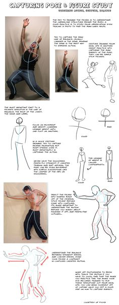 Human Figure Drawing Reference Tutorial- Pose and Body by Fyuvix on deviantART - Drawing Lessons, Drawing Techniques, Drawing Tips, Drawing Drawing, Gesture Drawing Poses, Movement Drawing, Drawing Models, Basic Drawing, Drawing Faces