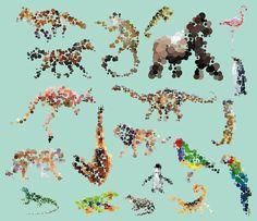 Artistic Dotted Animals Products – Fubiz Media