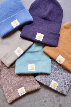 Stay warm with classic Carhartt knit hats, beanies, and watch caps. Browse men and women's winter hats and knit hats for work, outdoors, and more. Beanie Outfit, Cute Beanies, Cute Hats, Beanie Boos, Beanie Babies, Winter Beanie Hat, Carhartt, Outfits With Hats, Cute Outfits