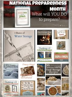 National Preparedness Month.  A whole list of things from 10 min projects to month long efforts you can do to become better prepared this month:  http://www.yourownhomestore.com/?p=9388