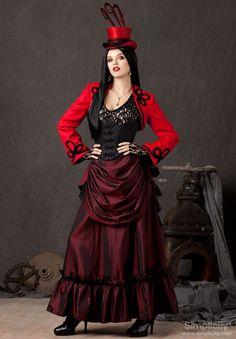 Steampunk Bustle Skirt Corset Jacket Neo by RenaissanceSupply