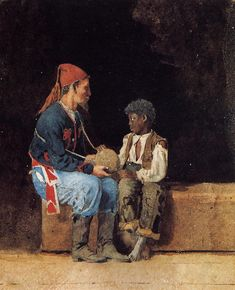 Contraband - Winslow Homer - Oil Painting Reproductions and Prints from Canvas Replicas Winslow Homer Paintings, Oriental, Civil War Art, Crescendo, Oil Painting Reproductions, American Artists, Art Projects, Project Ideas, Art Gallery