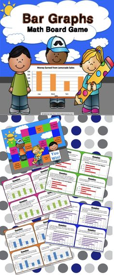 Bar Graphs Game contains 30 bar graphs game cards and a game board to help students practice solving one and two-step problems using data presented in different bar graphs (3.MD.B.3). This game works great as a pair/group activity, or for use in math centers.