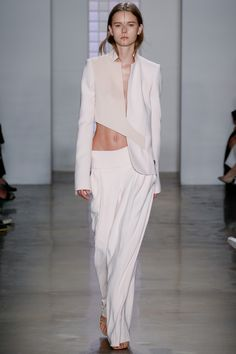 Dion Lee Spring 2016 Ready-to-Wear Fashion Show I would add a soft sheer shirt or tank for my taste.