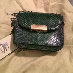 Burberry green snakeskin aprey handbag NWT and absolutely gorgeous!!  Burberry Bags
