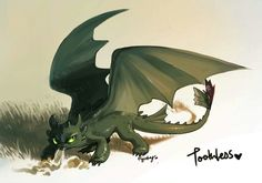 Toothless ^.^ ♡ Kudos to whoever made this fan art Toothless Dragon, Cartoon Dragon, Cartoon Art, Dreamworks, Godzilla, Le Couple Parfait, Got Dragons, Dragon Party, Nocturne