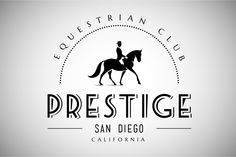 Horse Club Vintage Logo by vatesdesign on Creative Market Horse Club Vintage Logo by vatesdesign on Creative Market - Art Of Equitation Logo Caballo, Farm Logo, Horse Logo, Luxury Logo, Horse Ranch, Elegant Logo, School Logo, Vintage Design, Club