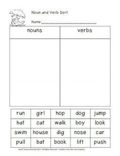 Worksheets Nouns And Verbs Worksheet 1000 images about nouns and verbs worksheets on pinterest worksheet