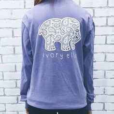 Pocketed Lavender Paisley Print ($32) ❤ liked on Polyvore featuring tops, t-shirts, shirts, ivory ella, ivoryella, blue pocket t shirt, lavender t shirt, pocket shirts, paisley top and lavender top